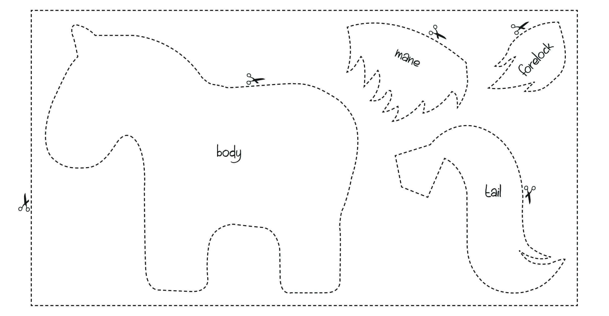 pony christmas make template pony magazine pony magazine. Black Bedroom Furniture Sets. Home Design Ideas