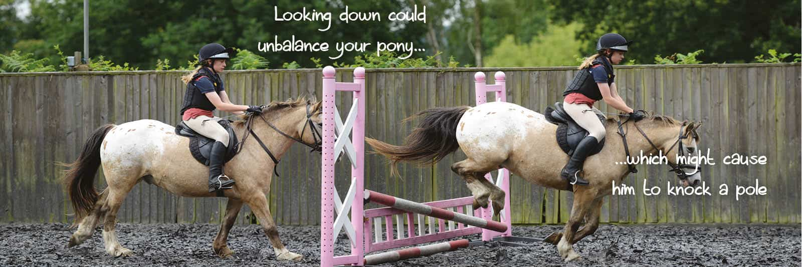 Pony knocking jump down