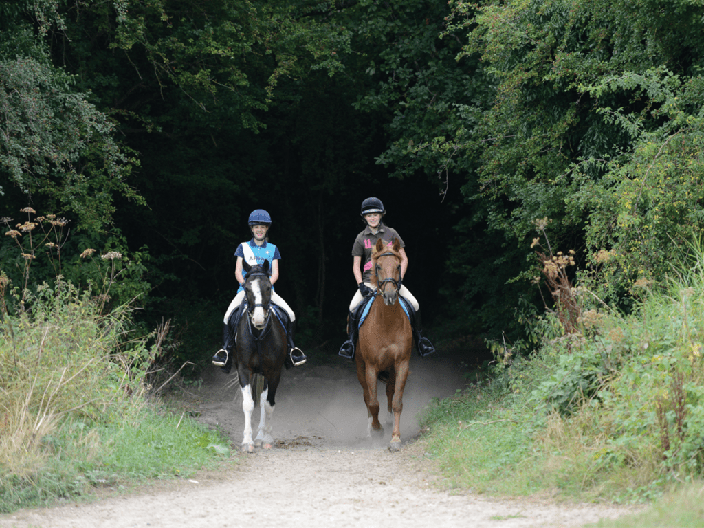 Two girls on a hack