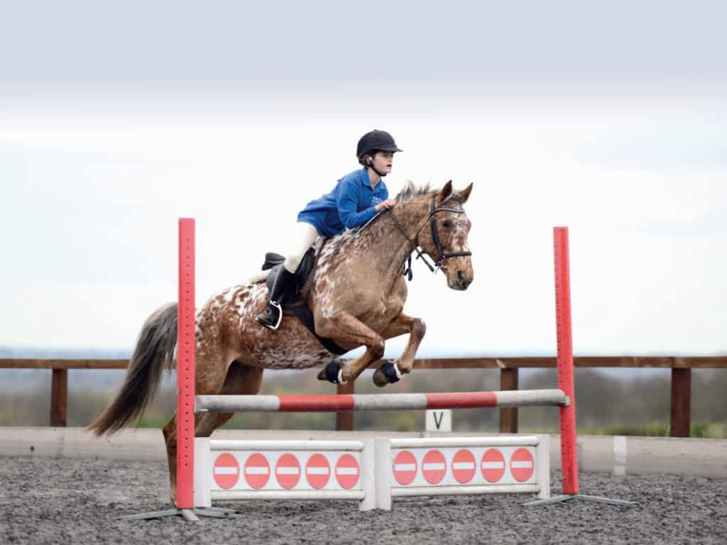 Jumping a strong pony