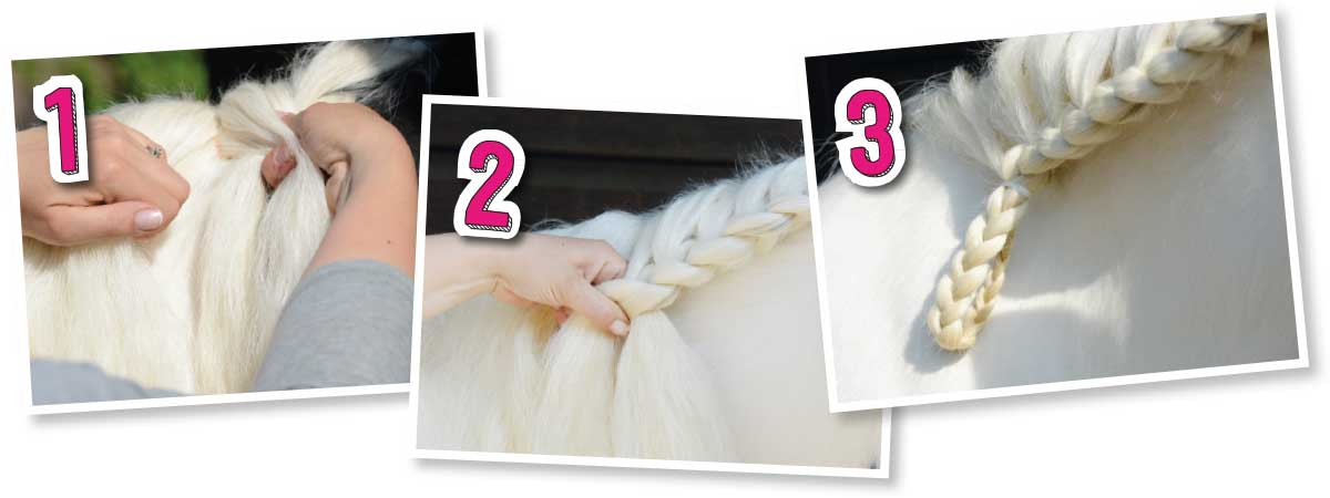 How to do a running plait in a horse's mane