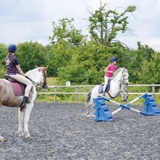 Jumping lesson with a new instructor