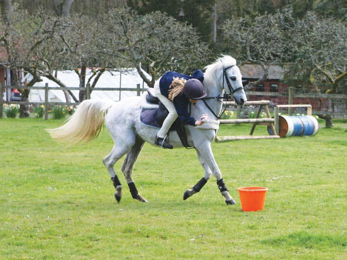 Mounted games, sock race