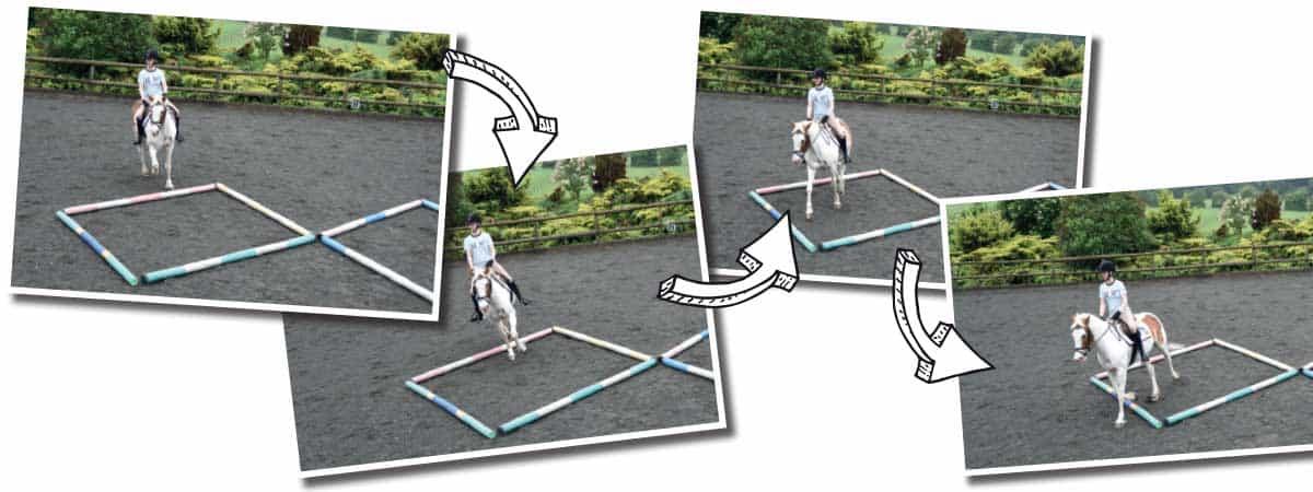 Using the diamond pole layout to help keep turns balanced