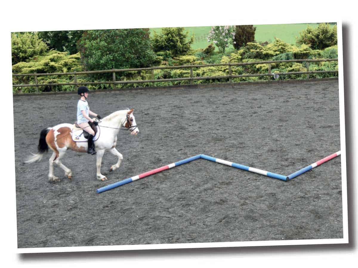 Using snake pole layout to help keep straight