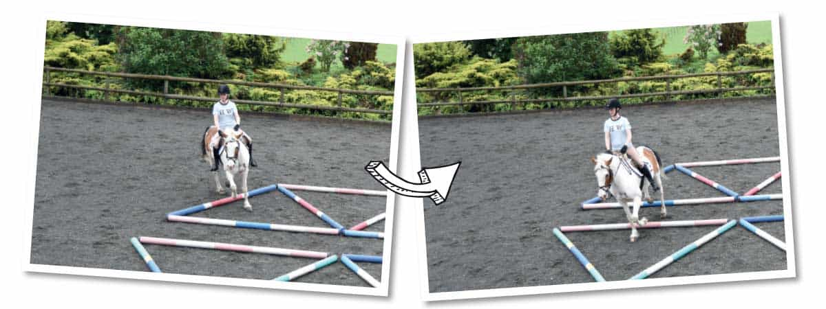 Using the spiderweb pole layout to improve circles