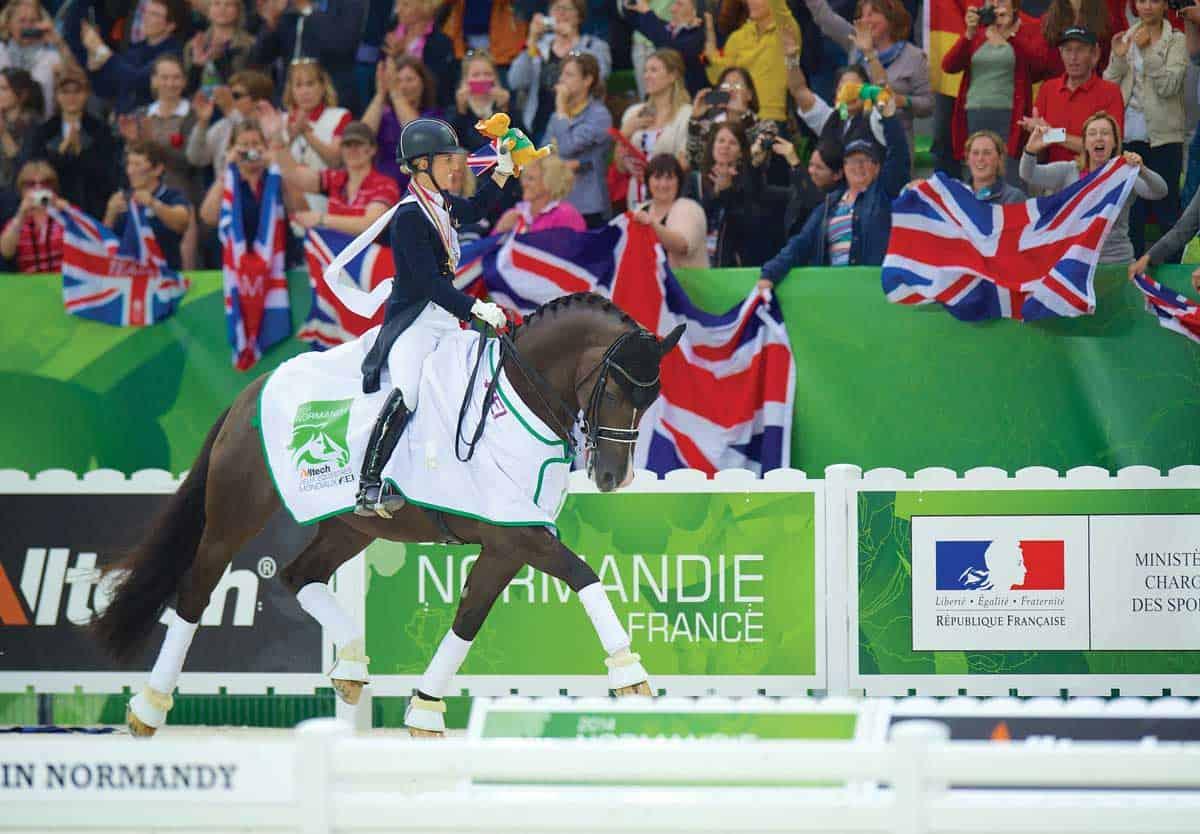 Charlotte Dujardin riding Valegro at eh World Equestrian Games