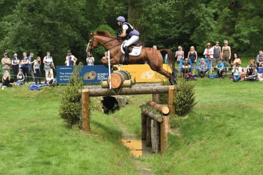 Eventer Emily King jumping cross-country