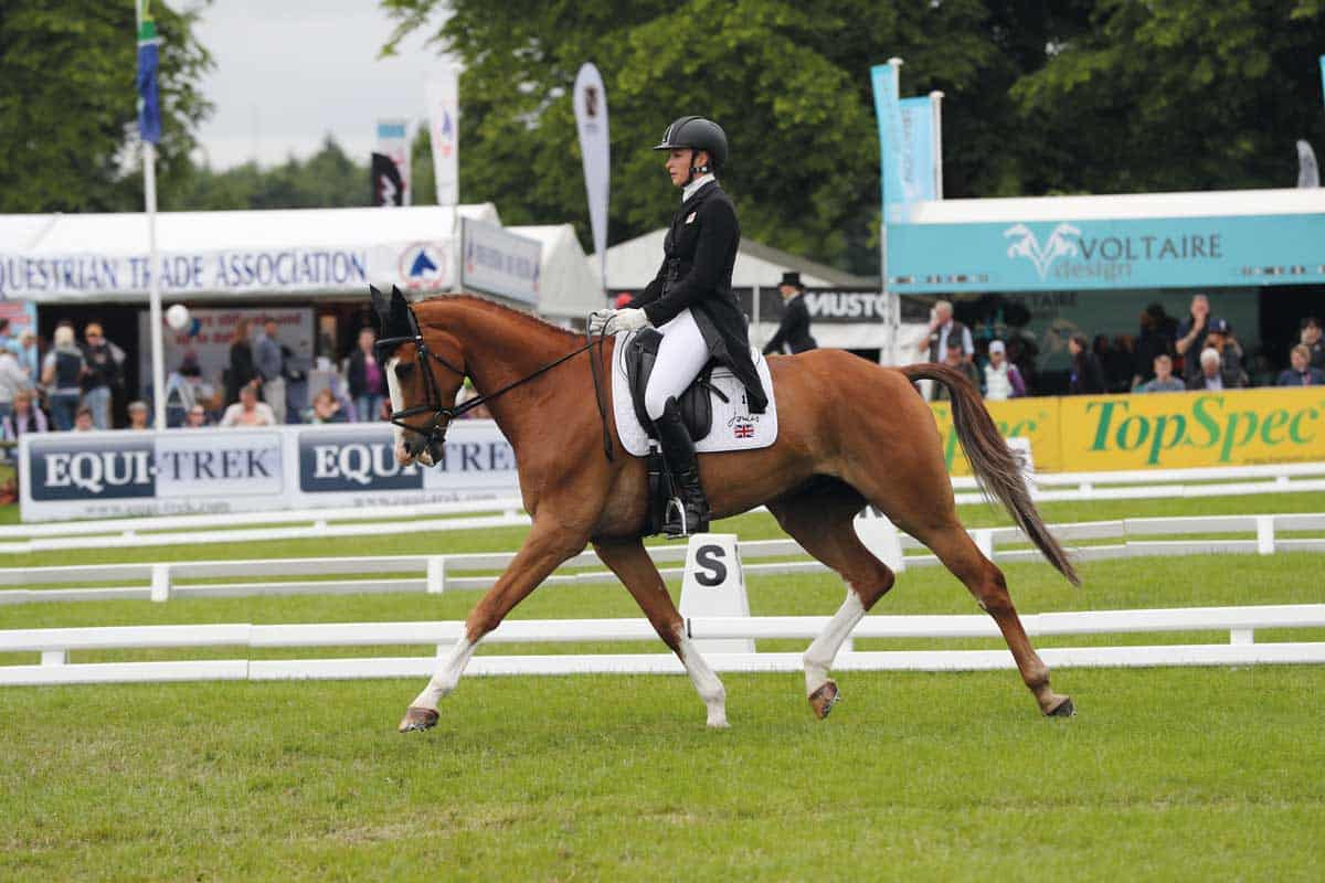 Eventer Emily King riding in the dressage phase