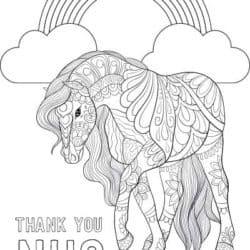 PONY colouring page download