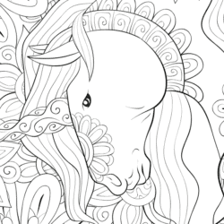 PONY colouring-in page