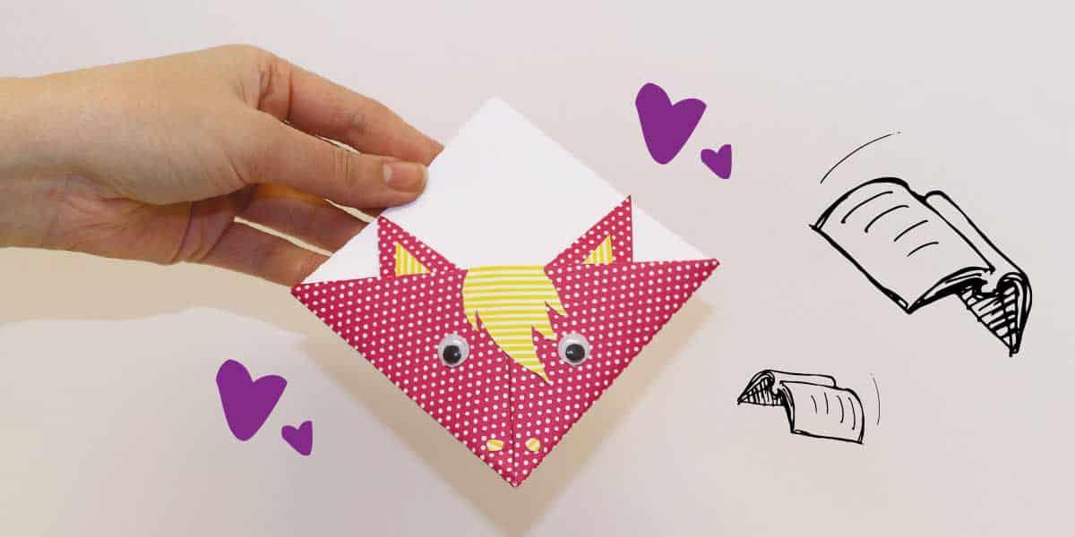 Pony origami book mark