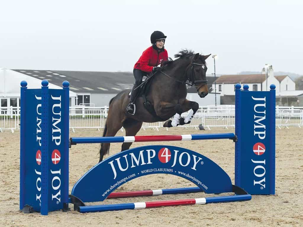 Pony Nuts having a jumping lesson with Ben Hobday