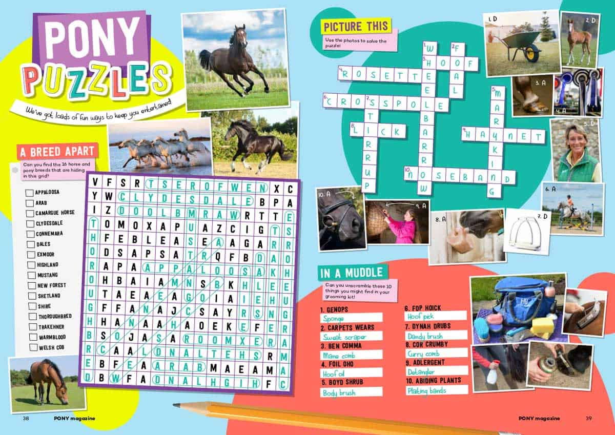 PONY June20 puzzle answers