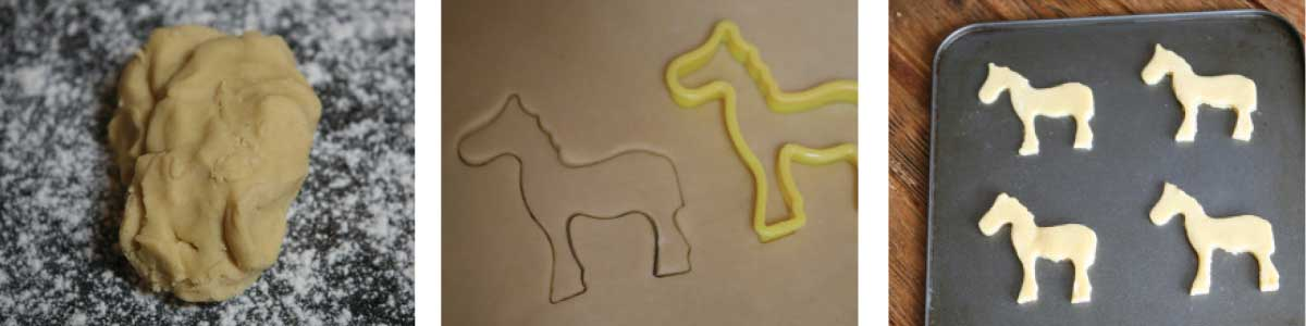 Pony cookies - step-by-step make - step 2 and 3