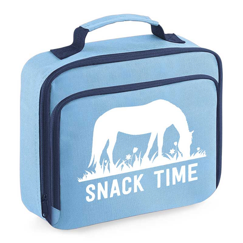 Grazing Horse Lunch Bag, Blue