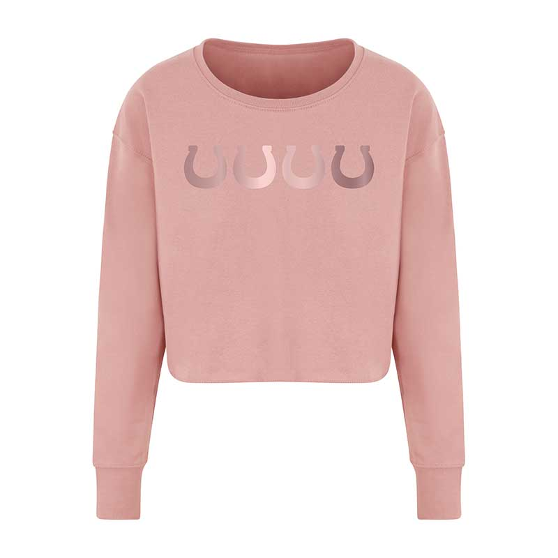 Dusty Pink Cropped Sweatshirt