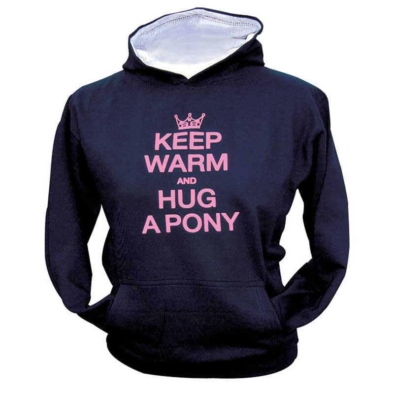 Keep warm and hug a pony hoodie