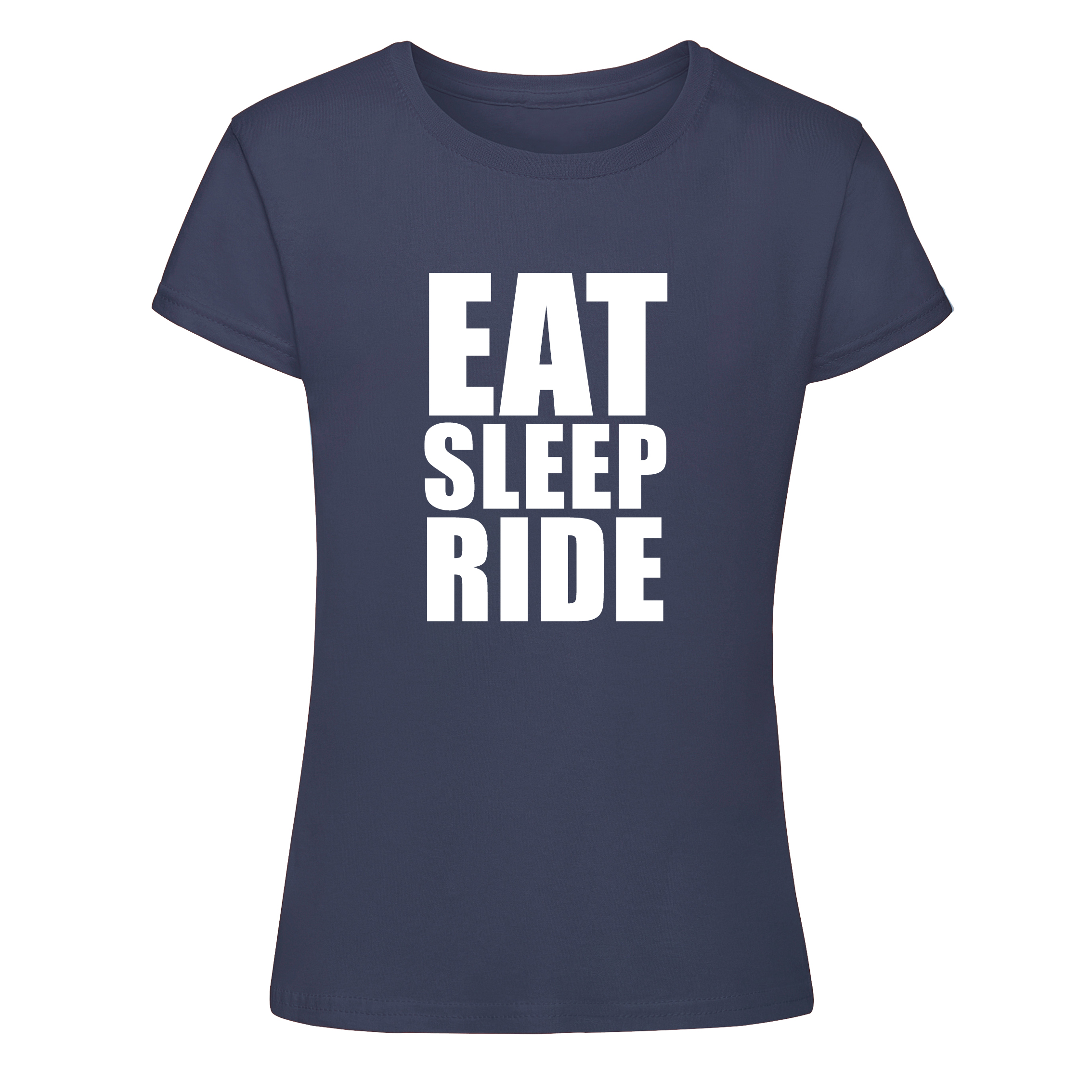 Eat Sleep Ride T-shirt – navy