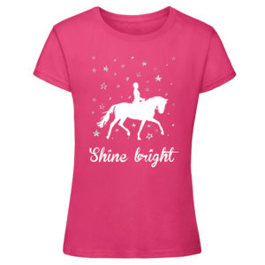 Shine Bright t-shirt, hot pink