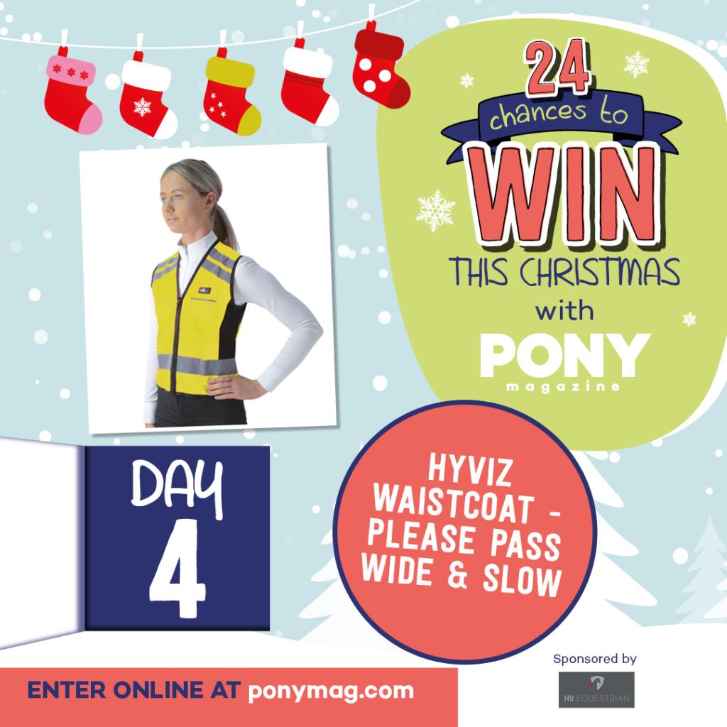 PONY Advent Calendar - HyVIZ Waistcoat - Please Pass Wide & Slow