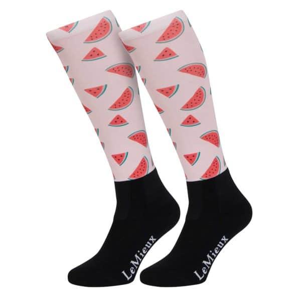 LeMieux Footsie Sock Watermelons