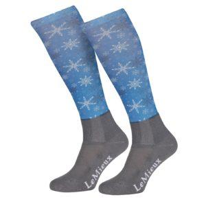 LeMieux Snowflakes socks