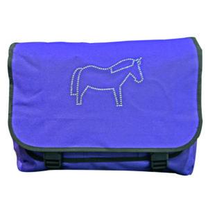 Diamante pony school bag