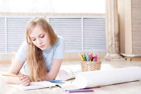 Girl crafting