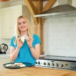 This Esme holding a Casper cookie