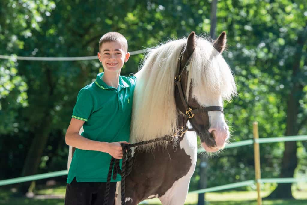 Boy and his pony