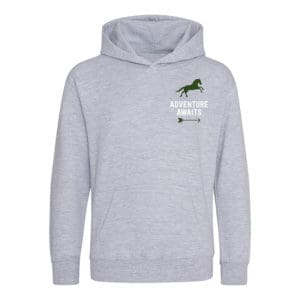 Adventure awaits galloping horse hoodie