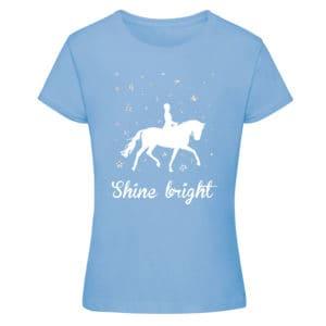 Shine Bright t-shirt, sky blue