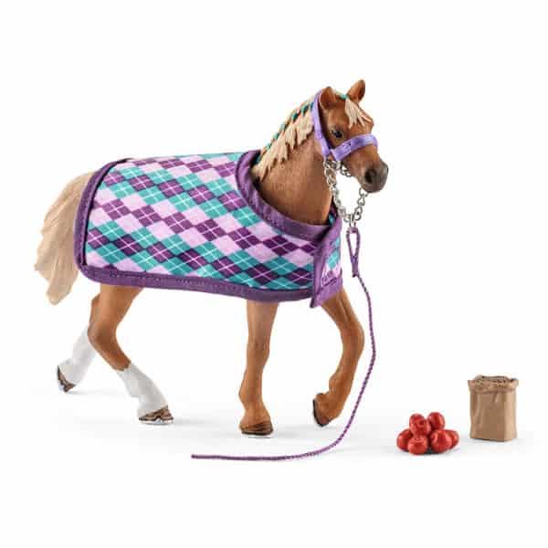 Schleich: English Thoroughbred with blanket