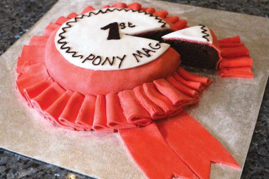 PONY rosette cake