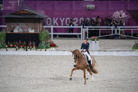 Charlotte Dujardin and Gio at the Tokyo Olympics 2020
